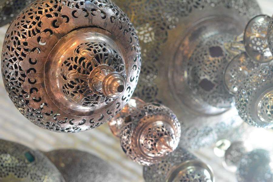 Iran lampa ręcznie robiona wisząca kupiona w Isfahan