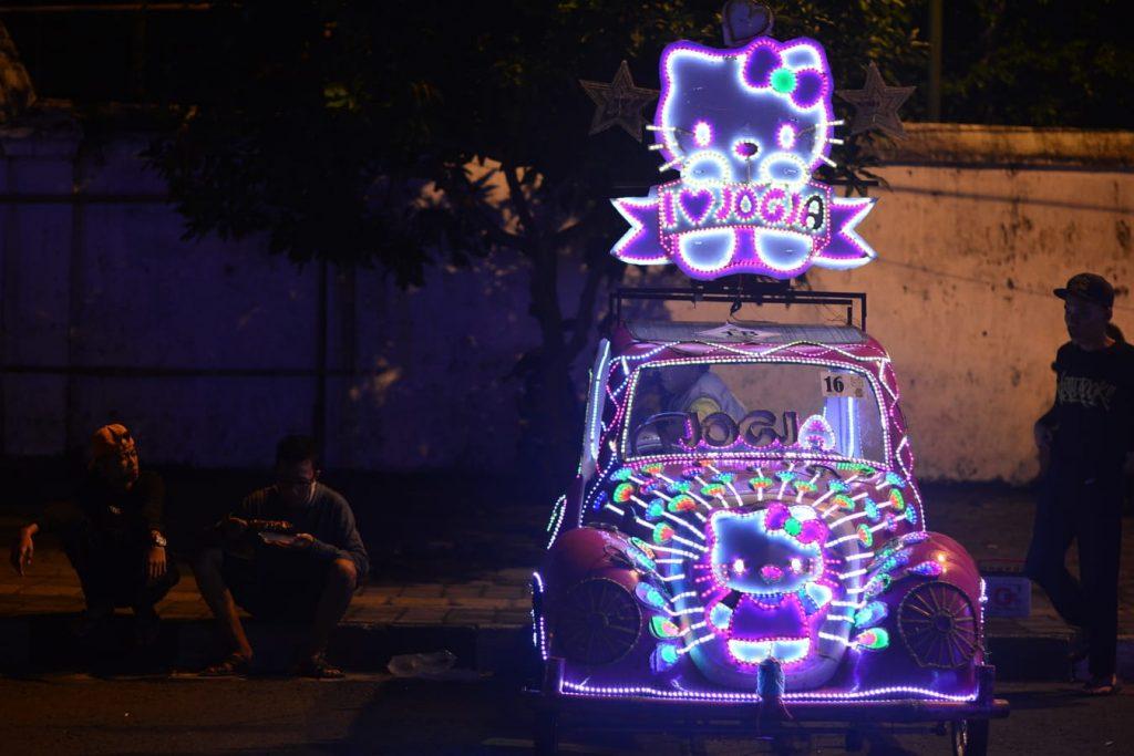 alun alun yogyakarta indonezja garbusy na pedaly