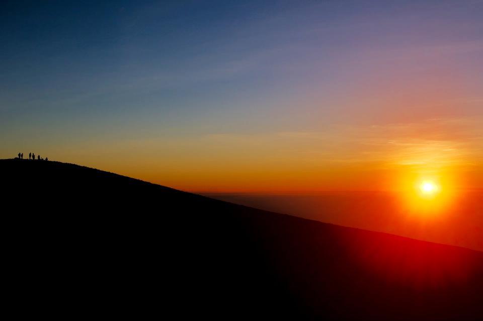 wschód słońca na merapi wulkany na jawie