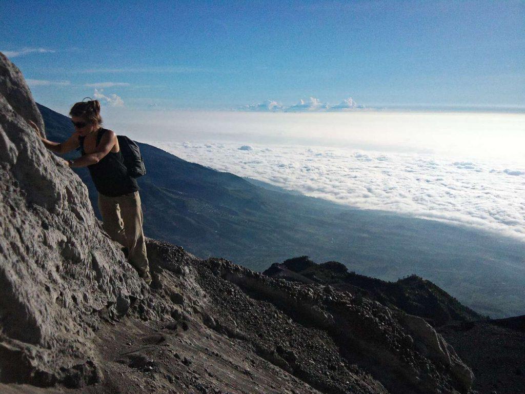 trekking na Merapi jak wygląda szlak wejscie na wulkan