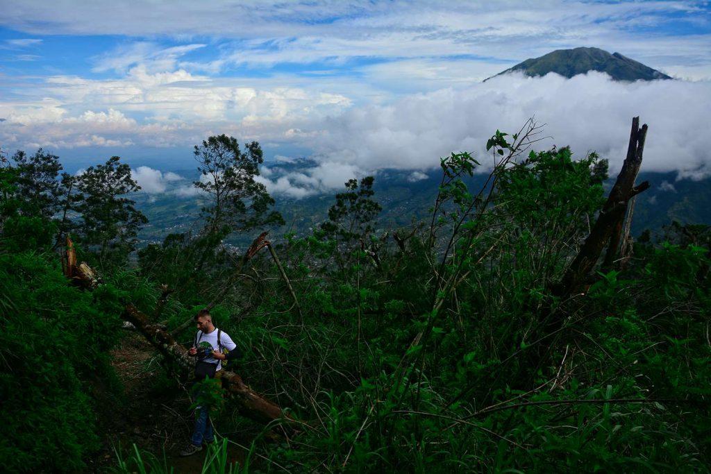 wejście na Merapi