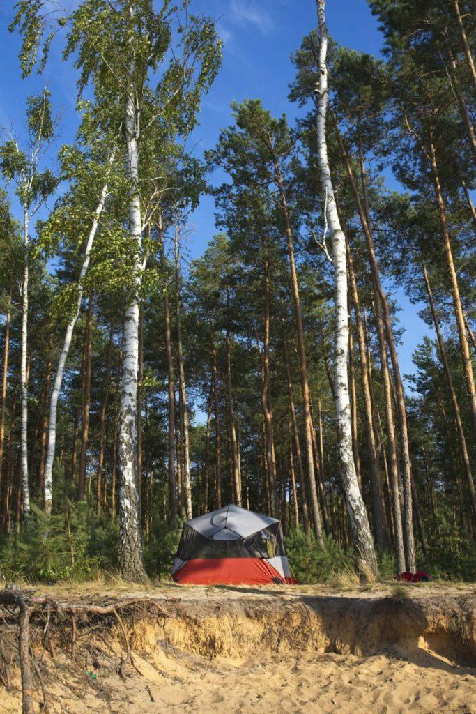 spanie na dziko zalew sulejowski nocuj w lesie biwakowie w polsce
