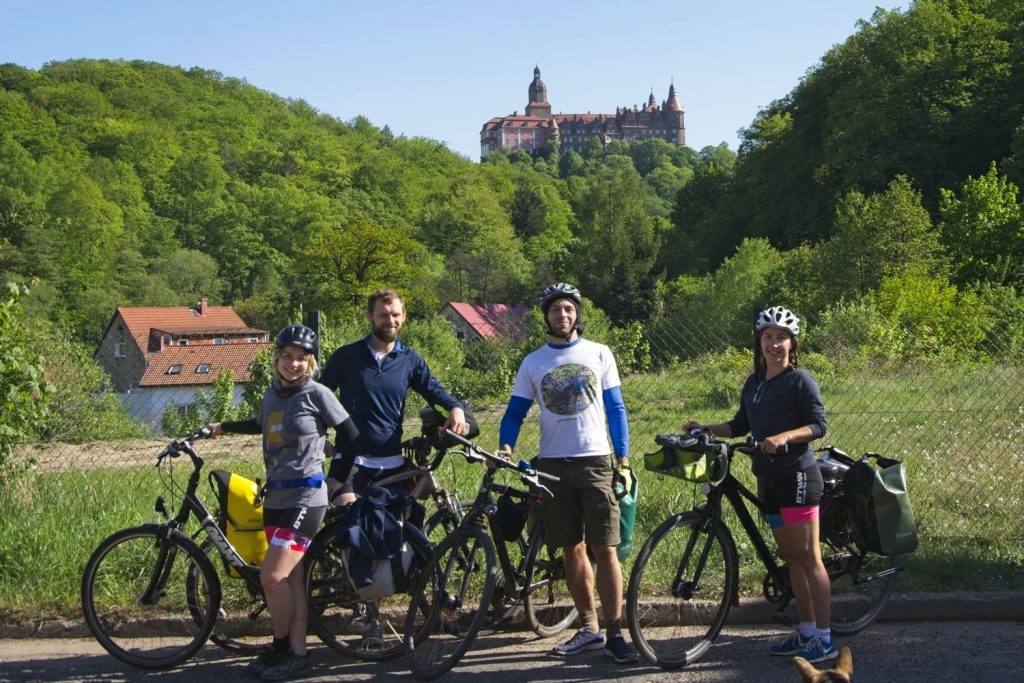 zamek książ rowerem dolny slask zamek wycieczka rowerowa