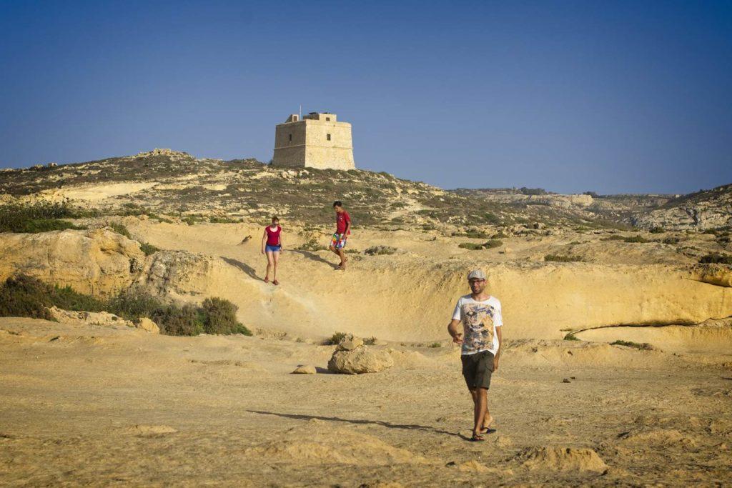 malta pustynnieje krajobraz na malcie piaskowiec malta