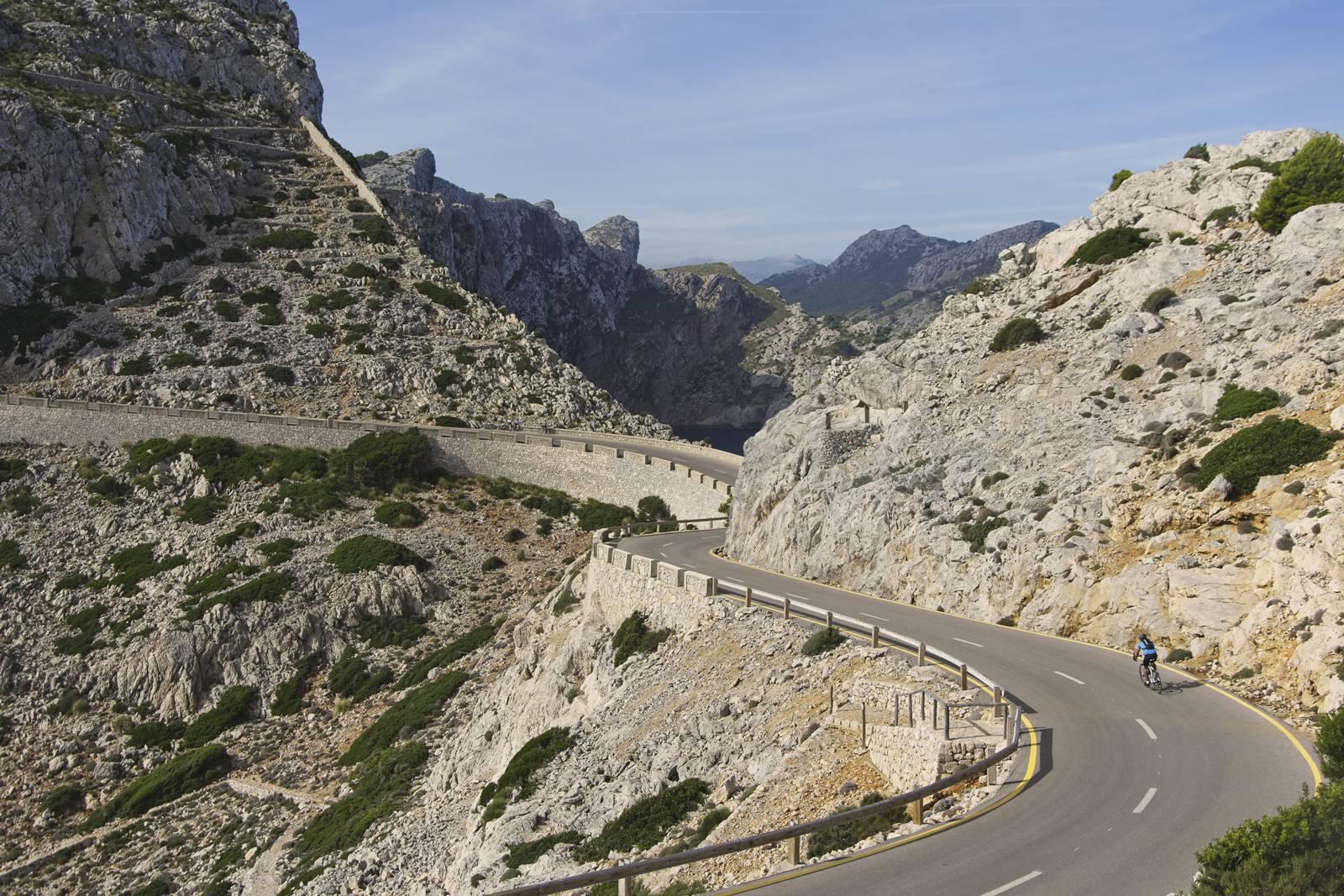 Droga na Formentor majorka rowerem