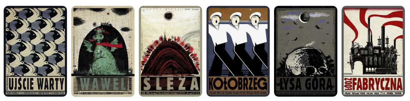 prezent dla podroznika plakat polska co kupic pod choinke