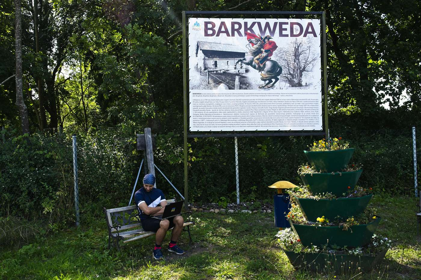 barkweda sciezka rowerowa olsztyn ostroda rowerem napoleon dąb napoleona w barkwedzie