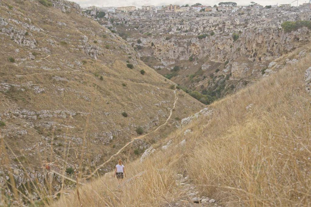 matera kanion jak dostac sie na druga strone park murgia materana