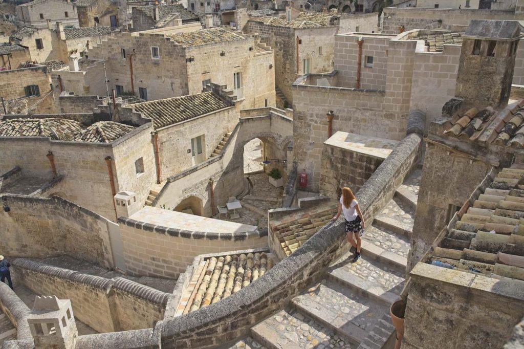 stare miasto matera sassi
